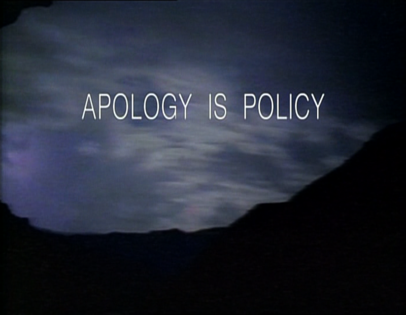 Apology Is Policy