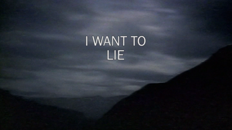 I Want To Lie
